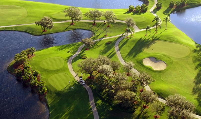 Aerial view of the South Course at the Vineyards