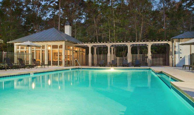 WaterClub West Poolhouse and Pavilion is enjoyed by friends and family
