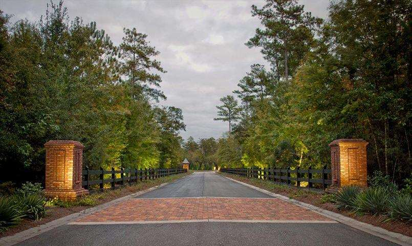 Our gated entrance and exit road makes a grand statement