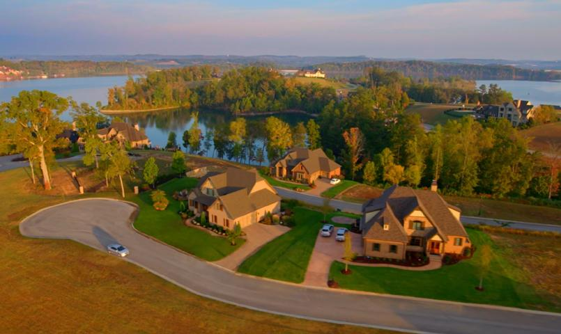 Aerial view of homes on Tellico Lake