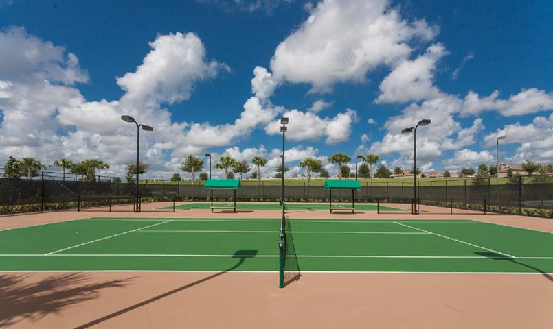 Tennis courts and tennis pavilion