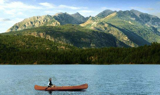 Canoeing Electra Lake near Durango Colorado