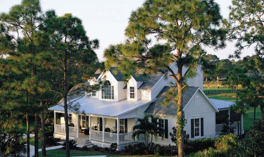 Homes within Indian River Club reflect Old Florida vernacular as well as the plantation and cottage homes found in the Carolina Lowcountry