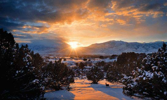 Unparalleled Winter Sunsets at Red Ledges