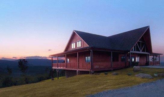 The Pisgah Lodge sits atop the highest knoll in the community, offering commanding 360-degree views of the surrounding Blue Ridge Mountains.