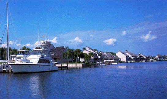 Several riverfront condominium communities within The Moorings offer private docking.