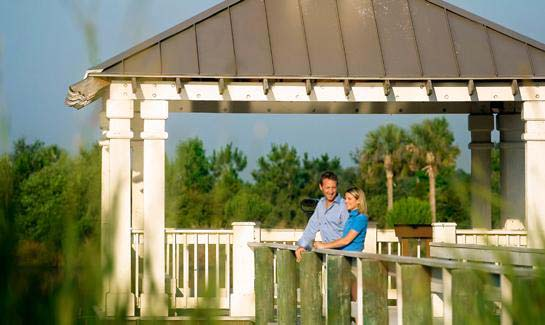 Residents of Forest Creek have access to two gazebos—one with binoculars to view lake wildlife.