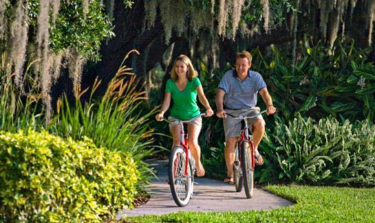 Residents can walk, jog, run or bike the community's scenic nature trails.