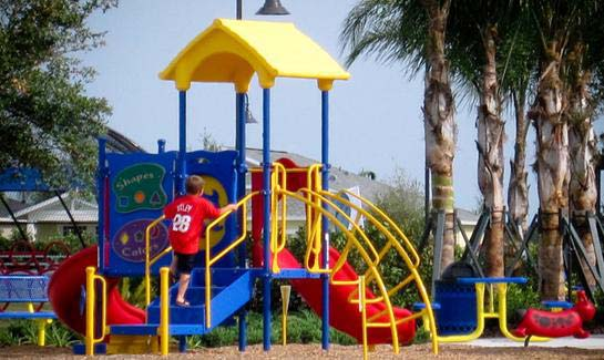 The Kid's Adventure Park at Central Park at Lakewood Ranch features playground equipment for children of all ages.
