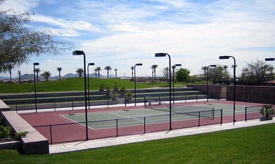Championship Tennis Courts at Trilogy at Vistancia