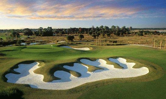 18-hole championship golf course designed by Chip Powell at Venetian Golf & River Club