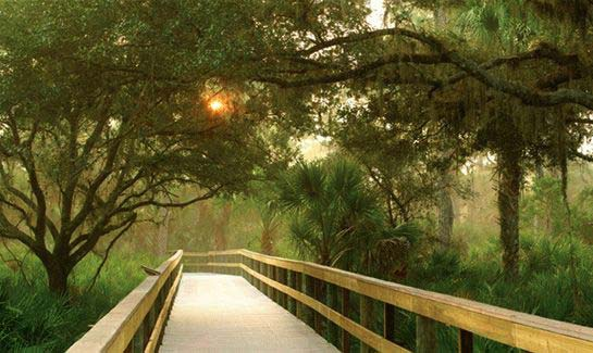 A River Walk winds through out the 70-acre Nature Park at Venetian Golf & River Club