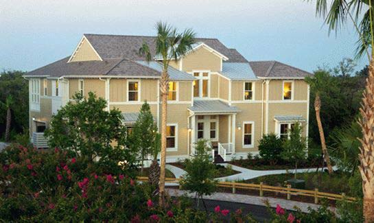 The Seascape Series at Harbour Isle on Anna Maria Sound features new coach model homes, designed in southern coastal resort-style architecture.