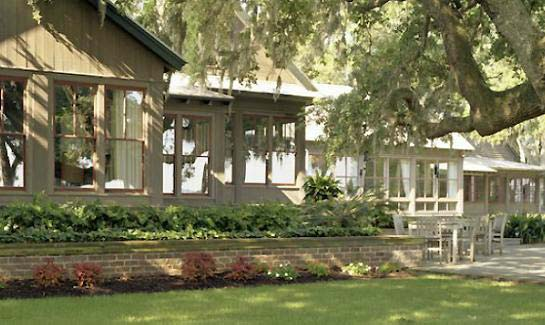 The River House at Spring Island includes administrative offices, a mailroom, Gathering Room and a fine dining restaurant.
