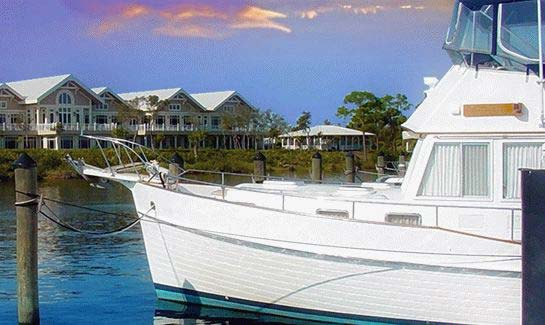 With 98 boat slips, the Harbour Ridge Yacht Club accommodates yachts of all sizes