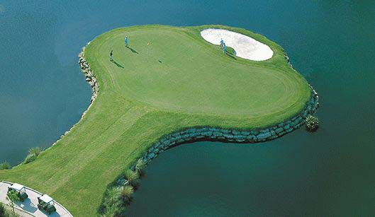 Grand Haven's signature island green