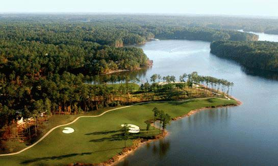 Aerial view of the Monticello Golf Club at Savannah Lakes Village